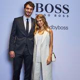 """25. April 2016: Mats Hummels und seine Frau Cathy Hummels sind zu Gast auf dem """"Hugo Boss Store Event"""" in Düsseldorf."""