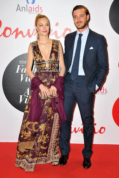 """7. Juni 2016: Beatrice Borromeo und Pierre Casiraghi zeigen sich auf dem """"Red Carpet Event - Convivio"""" in Mailand."""