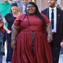 """Die Oscar-Nominierte Gabourey Sidibe ist ihrer schauspielerischen Leistung UND ihrer Körperfülle wegen mit dem Drama """"Precious"""" weltbekannt geworden. Sie sei nie ein schlankes Mädchen gewesen, ihr Gewicht erreichte jedoch teilweise ungesunde 175 Kilo. Und die purzeln jetzt ordentlich!"""