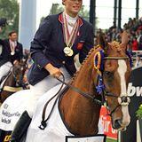27. August 2006: Zara Phillips räumt mit ihrem Pferd Toytown in Aachen Medaillen ab.
