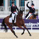 Zara Phillips tritt zum ersten Mal bei den olympischen Spielen an. Mit ihrem Pferd High Kingdom reitet die Queen-Enkelin im Gree