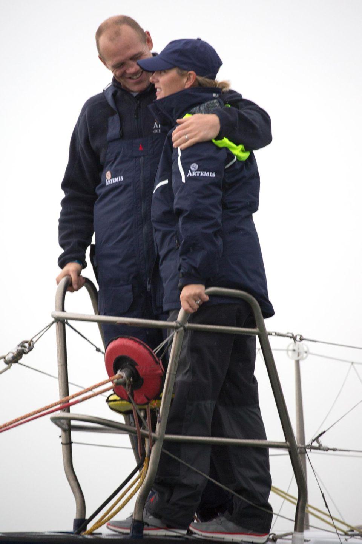 13. August 2015  Zara Phillips und Mike Tindall bilden beim rund-um-die-Insel-Rennen in Aberdeen ein unschlagbares Team.