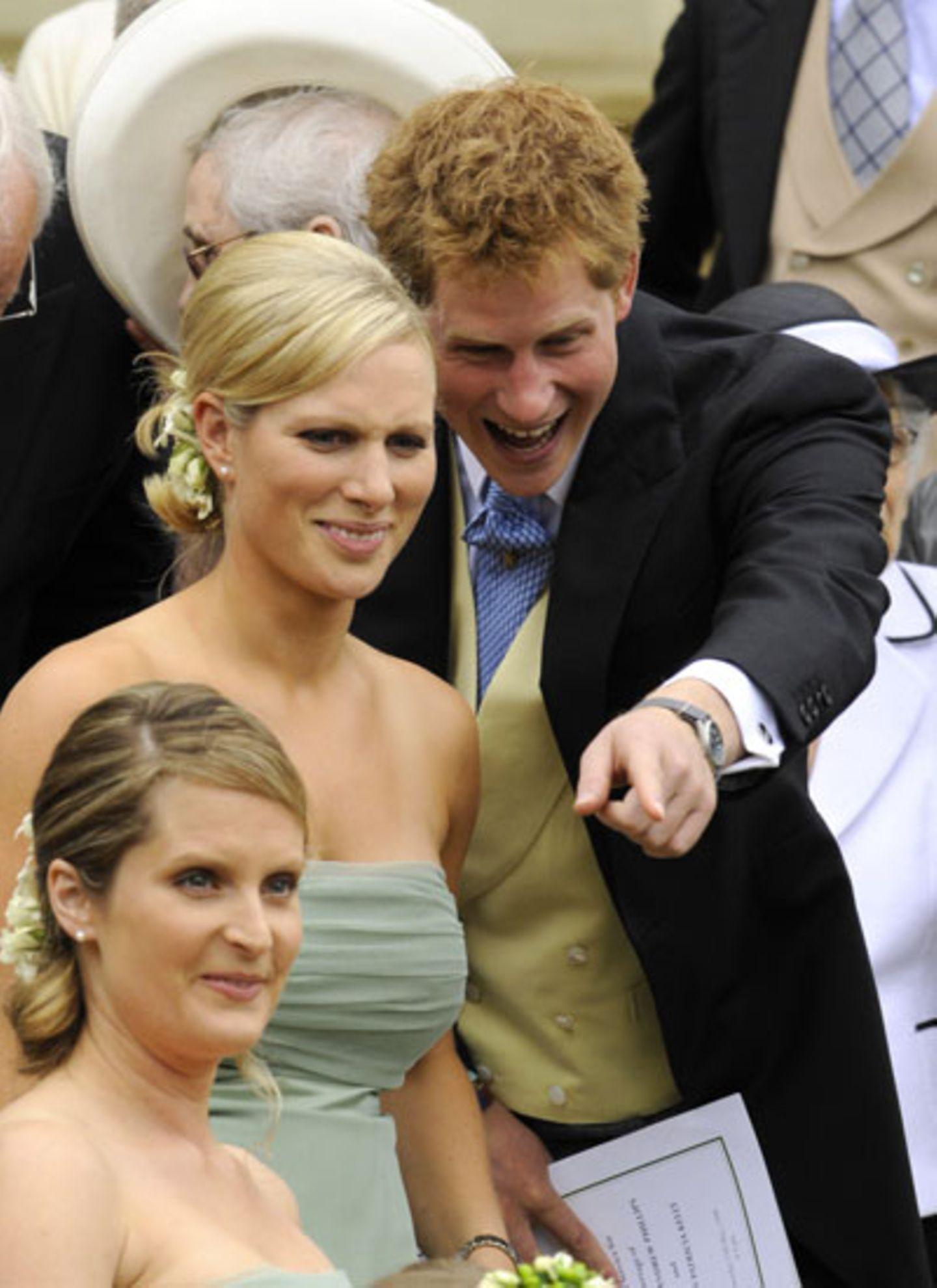 17. Mai 2008: Zur Hochzeit ihres Bruder Peter mit seiner Freundin Autumn ist Zara Phillips, selbstverständlich Brautjungfer, und