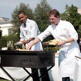 Wenn im Garten des Weißen Hauses ein BBQ stattfindet, dann steht der Präsident höchstpersönlich hinter dem Grill.
