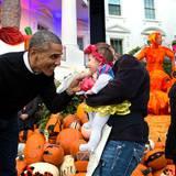 Halloween wird im Weißen Haus groß geschrieben - auch bei den Kleinen.
