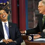 "Bei der ""Late Show with David Letterman"" in New York hat Barack Obama sichtlich viel Spaß."