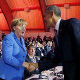 Auf dem Klimagipfel bei Paris trifft Barack Obama eine gute, alte Bekannte wieder: Bundeskanzlerin Angela Merkel.