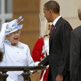 Auf einen Plausch mit der Queen: Barack Obama ist zu Besuch in London.