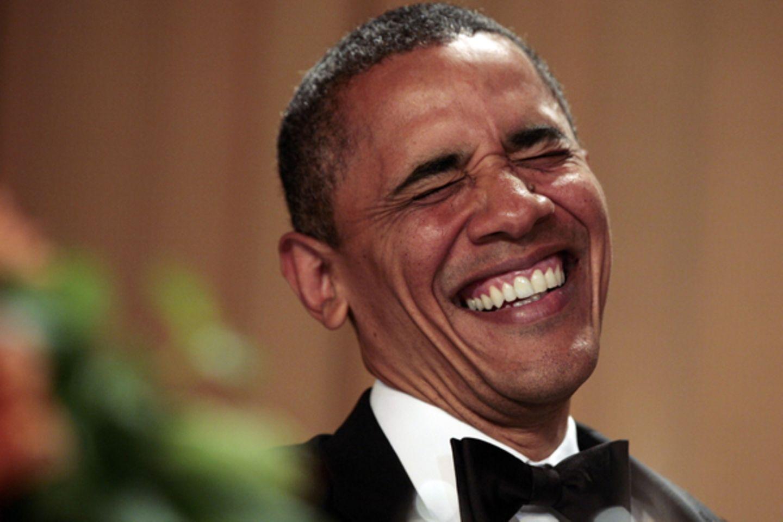 US-Präsident Barack Obama genießt den Abend im Weißen Haus, ...