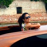 Venedig Filmfestspiele: Wie es in Venedig üblich ist, fährt Salma Hayek mit dem Boot vor.
