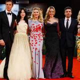 "Die ""W.E.""-Darsteller um Madonna: Andrea Riseborough, Oscar Isaac, Abbie Cornish und Natalie Dormer."