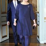 21. Februar 2012: Prinzessin Victoria und Prinz Daniel kommen zum Empfang der finnischen Präsidentin im Königspalast in Stockhol