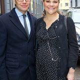 """9. Februar 2012: Kronprinzessin Victoria und Prinz Daniel Ankunft besuchen das """"Centre for Business and Policy Studies"""" in Stock"""
