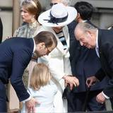 30. April 2016  Mini-Prinzessin trifft ehemaligen König