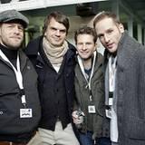 Schon Austern-hungrig?! Henning Baum, André Pollmann, Oliver Gerbitz und Lee Rychter