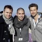 Zufriedene Gesichter: Ole Tillmann, Tim Waller und Wayne Carpendale