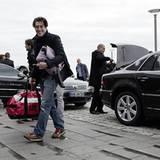Nic Romm hat sich stilgerecht mit dem VW-Shuttle ins Hotel Budersand bringen lassen.
