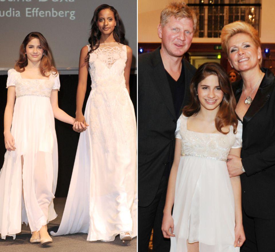 Auf der Berliner Fashion Week 2012 stellte Claudia Effenberg ihre erste eigene Modekollektion vor - und schickte dafür Tochter L