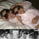 Für Monroe gibt es eine Kuscheleinheit mit Mama im Bett.