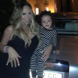 Mama Mariah posiert mit Sohnemann Moroccan in Monaco.