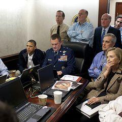 1. Mai 2011: Ein Foto, das um die Welt geht: US-Präsident Obama, Außenministerin Hilary Clinton und andere Mitglieder der Sicher