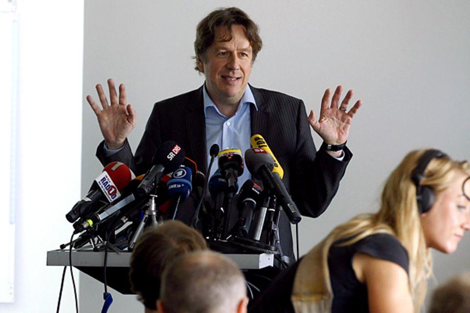 31. Mai 2011: Jörg Kachelmann ist wieder ein freier Mann. Vom Vorwurf der Vergewaltigung seiner Ex-Freundin ist er aufgrund nich