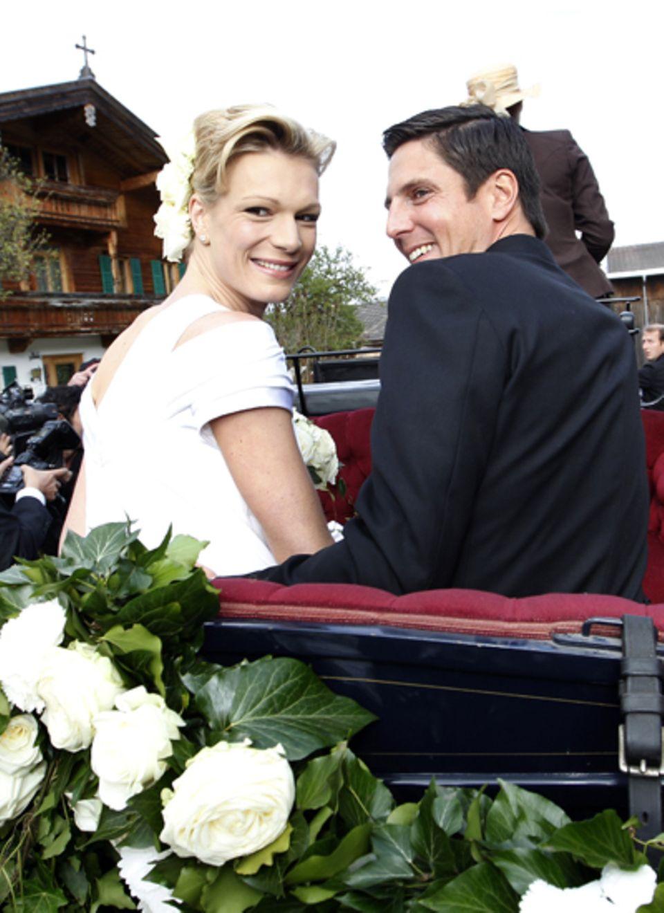 14. April 2011: Maria Riesch und ... Höfl
