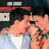 15. Dezember 2011: Unter der Sonne Brasiliens ist die Laune besonders gut. Tom Cruise und Paula Patton stellen in Rio de Janeiro