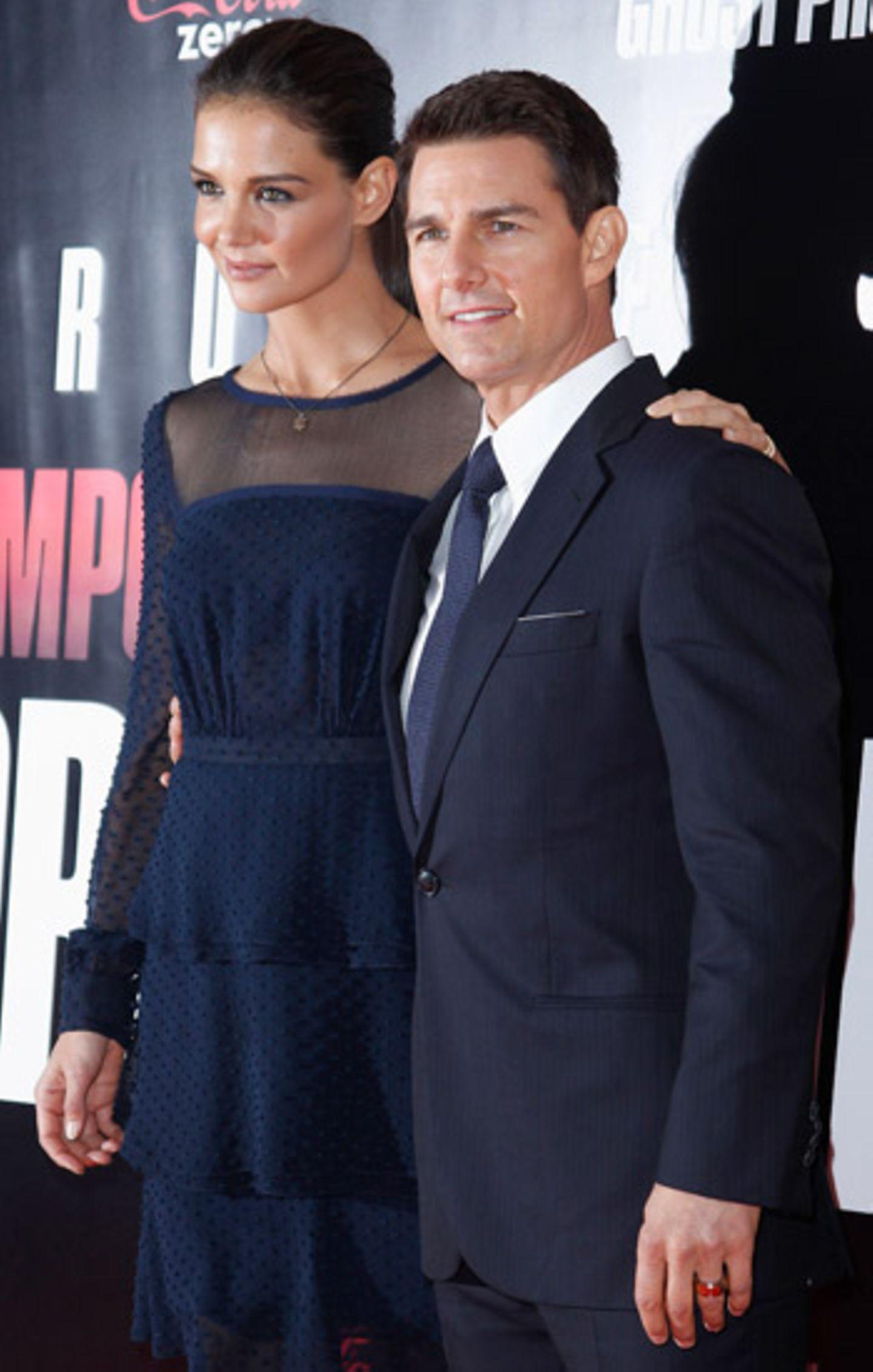 19. Dezember 2011: Zurück in seiner Heimat feiert Tom Cruise in New York die Filmpremiere seines neuen Films. Auf dem roten Tepp