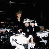 Stars & Bikes - Prominente und ihre Motorräder:  Prinzessin Diana mit William und Harry auf einer BMW R80.