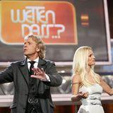 3. Oktober 2009: Thomas Gottschalk and co-presenter Michelle Hunziker attends the show in Freiburg.