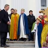 6. Januar 2012: Am Dreikönigstag empfangen Christian und Bettina Wulff traditionell auf Schloss Bellevue viele kleine Sternsinge