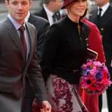 10. Januar 2012: Natürlich kommen auch Prinz Frederik und Prinzessin Mary ins dänische Parlament, um Königin Margrethe zu gratul