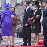2. Oktober 2012: Die dänische Königsfamilie bei der Parlamentseröffnung in Kopenhagen: Prinzessin Bendikte, Königin Margrethe, P