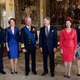 17. April 2012: Prinz Daniel, König Carl Gustaf, Königin Silvia und Prinzessin Victoria empfangen Finnlands Präsident Sauli Niin
