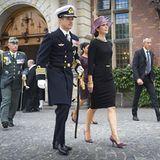 5. September 2012: Prinz Frederik und Prinzessin Mary nehmen am Gedenkgottesdienst zu Ehren gefallener dänischer Soldaten in Kop