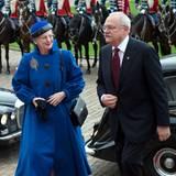 23. Oktober 2012: Königin Margrethe empfängt in Kopenhagen den Präsidenten der Slowakai Ivan Gasparovic.