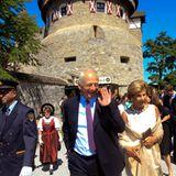 15. August 2012: Staatsfeiertag im Fürstentum Liechtenstein: Prinz Hans Adam und seine Frau Prinzessin Marie feiern auf Schloss