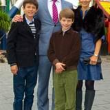 23. Juni 2012: Gräfin Alexandra und ihr Mann Martin Jörgensen besuchen mit den Söhnen Prinz Nikolai und Prinz Felix aus der Ehe