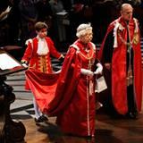 """7. März 2012: Queen Elizabeth und Prinz Philip nehmen an einem Gottesdienst zu Ehren des """"Order of the British Empire"""" in der St"""