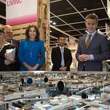 """6. Dezember 2012: Prinzessin Mary und Prinz Frederik von Dänemark besuchen die """"Business of Design Week""""-Ausstellung in Hong Kon"""