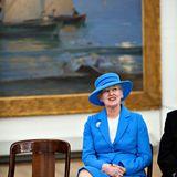 """3. Mai 2012: Königin Margrethe besucht eine Ausstellungs-Eröffnung im """"Skagen Museum""""."""