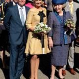 Die niederländische Königin und das Kronprinzenpaar zeigen sich gut gelaunt in der Öffentlichkeit.