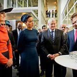 4. Oktober 2012: Prinzessin Máxima und Sheikha Mozah bint Nasser Al Missned, die zweite Frau des Emirs von Katar, besuchen das S