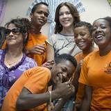 """17. September 2012: Prinzessin Mary besucht """"Cidinha Kopcak"""", ein Zentrum für misshandelte Frauen in Sao Paolo."""
