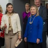 "3. Juni 2012: US-Außenministerin Hillary Clinton ist in Stockholm und nimmt dort mit Prinzessin Victoria am ""Climate and Clean A"