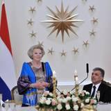 13. Juni 2012: Königin Beatrix von Holland ist zu Gast in der Türkei bei Präsident Abdullah Gul und seiner Frau Hayrunnisa Gul.