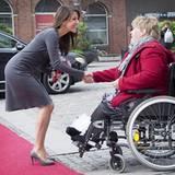 27. September 2012: Prinzessin Marie von Dänemark besucht in Odense ein Epilepsie Zentrum zu dessen 50. Jubiläum.