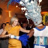 21. November 2012: Das niederländische Kronprinzenpaar ist zu Besuch in Brasilien: Prinzessin Máxima, gebürtige Argentinierin, t