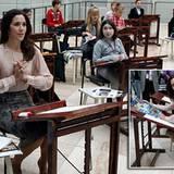 9. Oktober 2012: Prinzessin Mary von Dänemark gestaltet am State Hermitage Museum in St. Petersburg Unterricht für künstlerisch